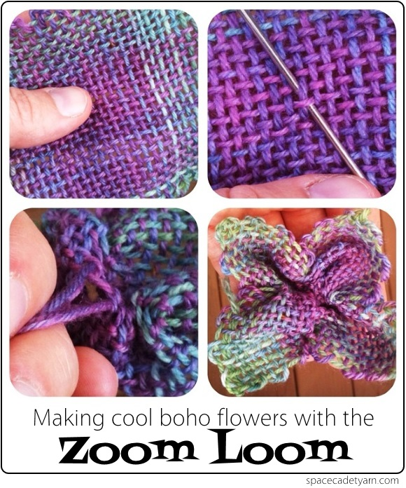 Making cool boho flowers with the Zoom Loom