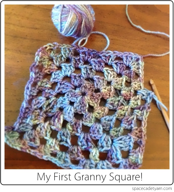 The SpaceCadet's first Granny Square