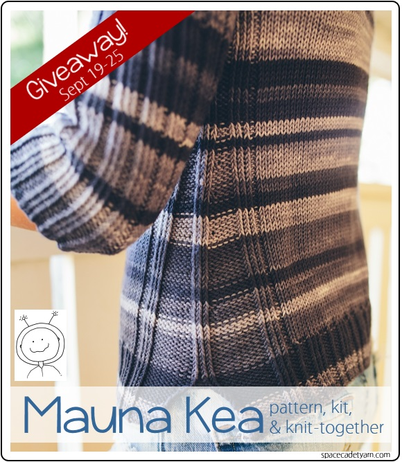 It's a Mauna Kea giveaway, from SpaceCadet yarn! 1