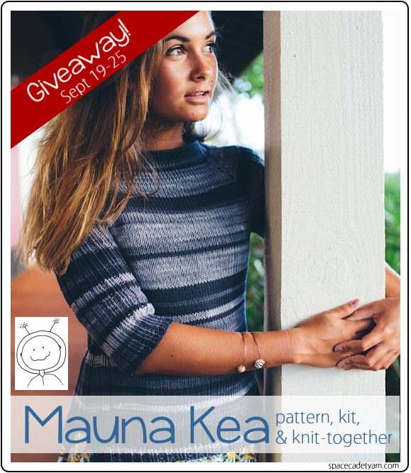 It's a Mauna Kea giveaway, from SpaceCadet yarn! 2