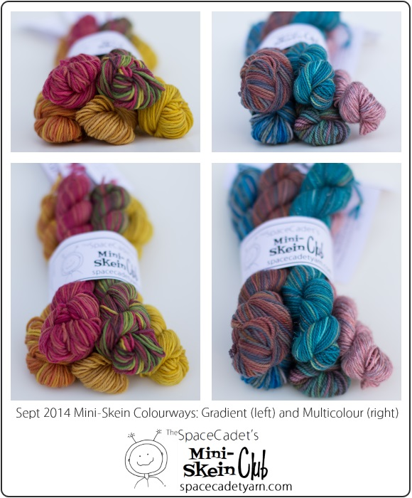 Sept 2014 Mini-Skein Colourways