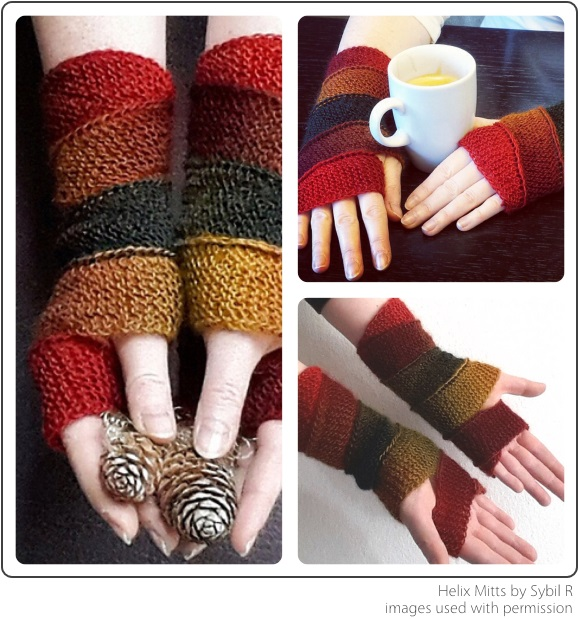 Helix Mitts by Sybil R