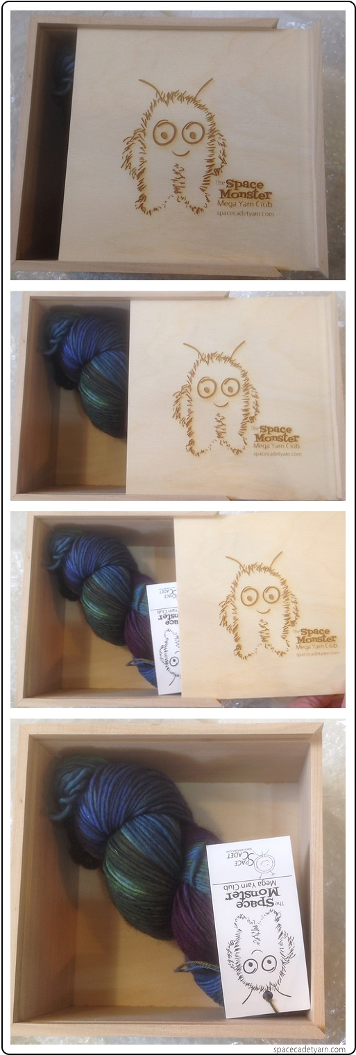 The SpaceMonster Mega Yarn Club Gift for Dec 2014