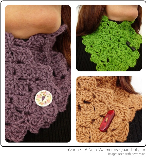 Yvonne - A Neck Warmer by Quadshotyarn