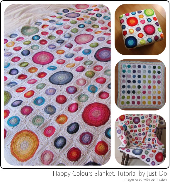 Happy Colours Blanket & Tutorial by Just-Do