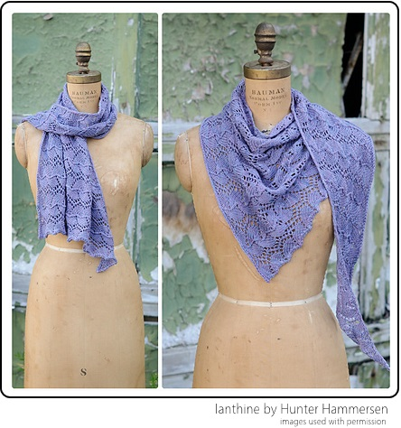 Ianthine by Hunter Hammersen, designed in SpaceCadet Oriana yarn