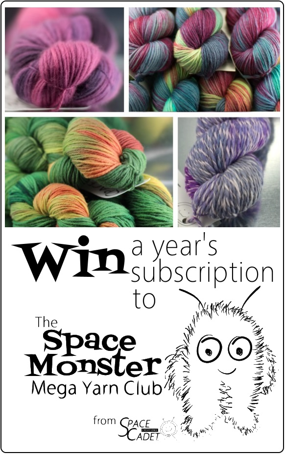 Win a Year's Membership to the SpaceMonster Mega Yarn Club from SpaceCadet 3