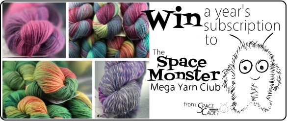 Win a Year's Membership to the SpaceMonster Mega Yarn Club from SpaceCadet