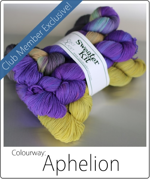 Aphelion -- The SpaceCadet's Mini-Skein Club, now available as Sweater Kits! 4 580