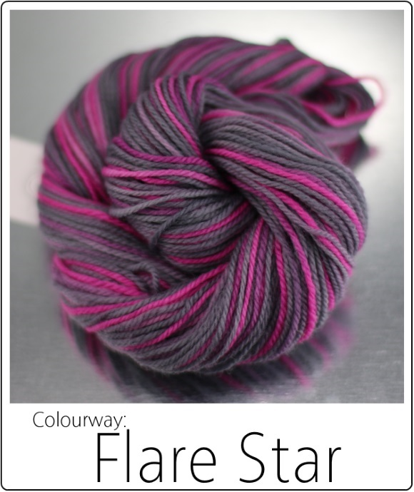 Flare Star -- The SpaceCadet's Mini-Skein Club, now available in Full Skeins! 580