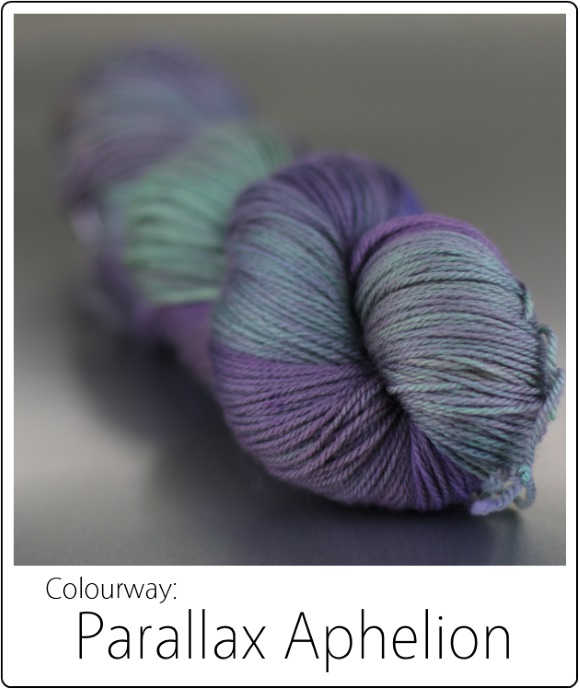 Parallax Aphelion -- The SpaceCadet's Mini-Skein Club, now available in Full Skeins! 580