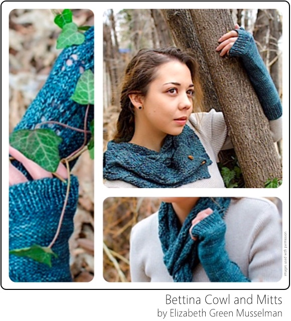 Bettina Cowl and Mitts by Elizabeth Green Musselman