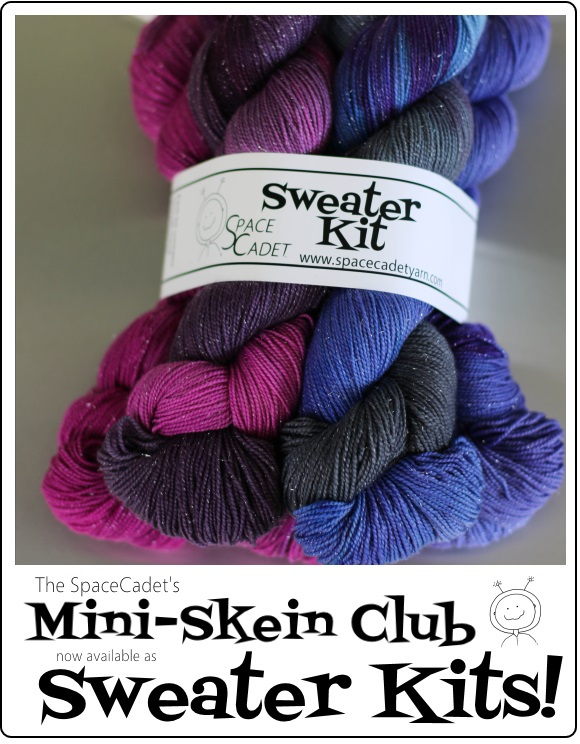 The SpaceCadet's Mini-Skeins Now Available as Sweater Kits
