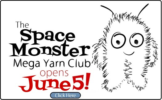The SpaceCadet's SpaceMonster Mega Yarn Club open on June 5th!