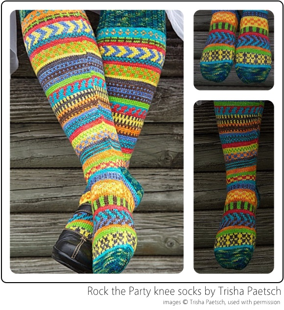 Rock the Party knee socks by Trisha Paetsch