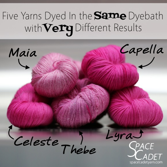 Five Yarns Dyed in the Same Dyebath with Very Different Results 2