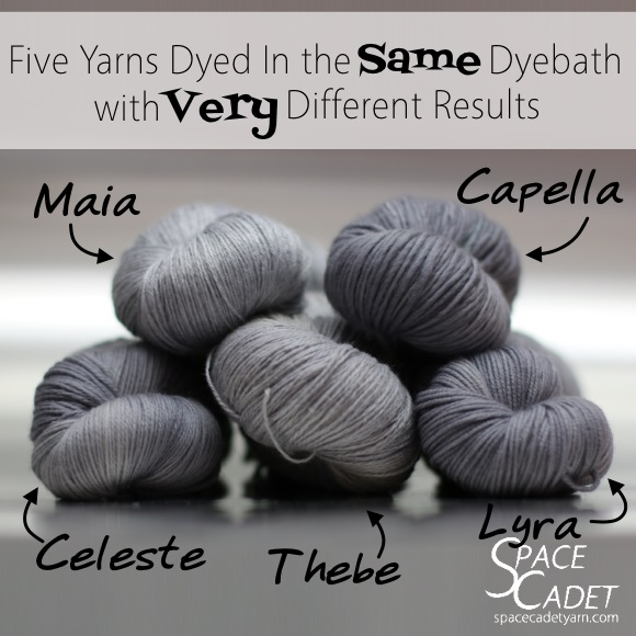 Five Yarns Dyed in the Same Dyebath with Very Different Results 3