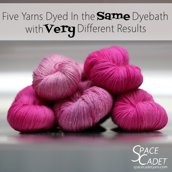 Five Yarns Dyed in the Same Dyebath with Very Different Results