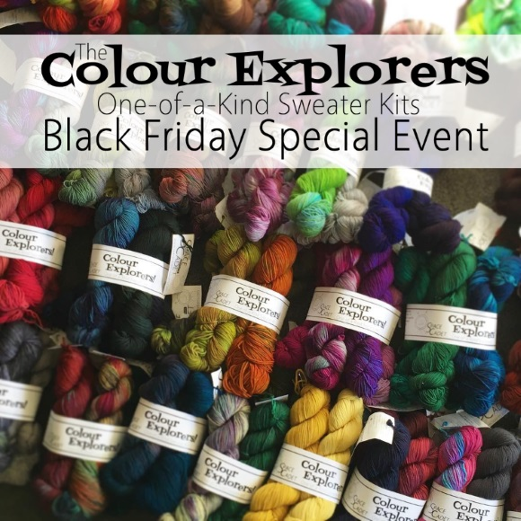 The SpaceCadet's Colour Explorers One-of-a-Kind Sweater Kit Black Friday Special Event 580