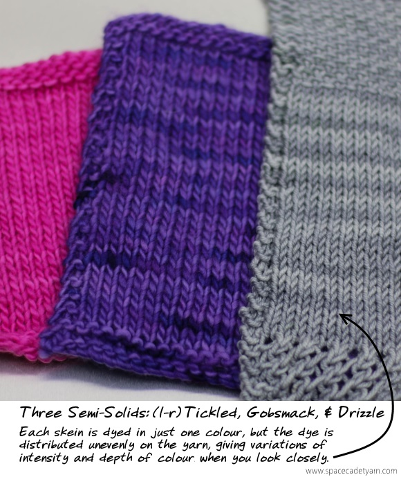 Three Semi-Solids -- Tickled, Gobsmack, and Drizzle