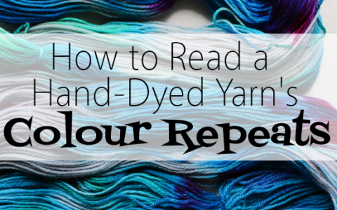 How to Read Your Hand-Dyed Yarn's Colour Repeats