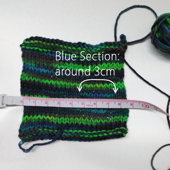 Blue section knitted 550