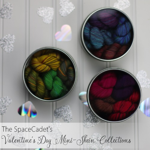Valentine's Day Yarn: the SpaceCadet's Valentine's Day Mini-Skein Collections