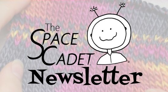 SpaceCadet Newsletter: Slipped Stitches and Steeked Shawls